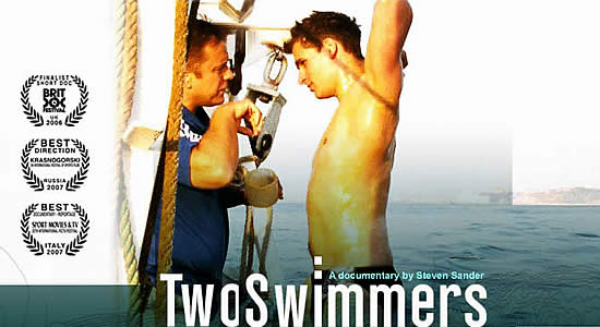 Copertina del documentario Two Swimmers (foto twoswimmers.co.uk)